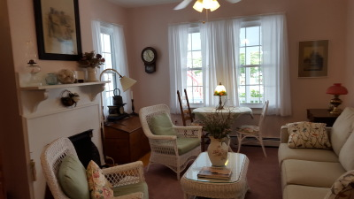 In the Victoria Guest House Living Room: Have a chat with new friends, play a card game, or watch a movie.