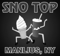 advertisement: sno top ice cream, manlius new york