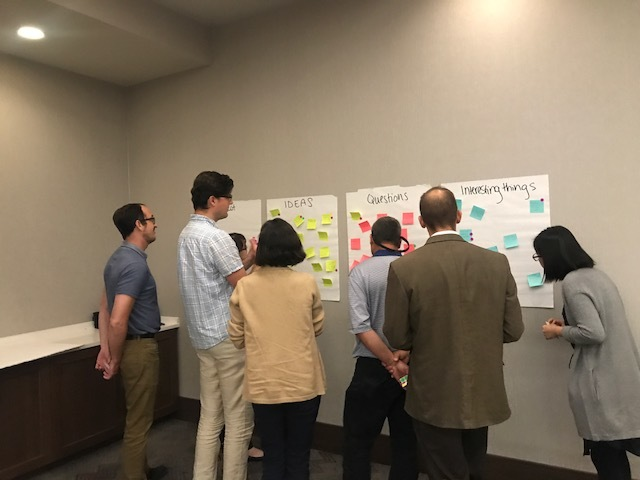 workshop participants considering key research gaps and opportunities