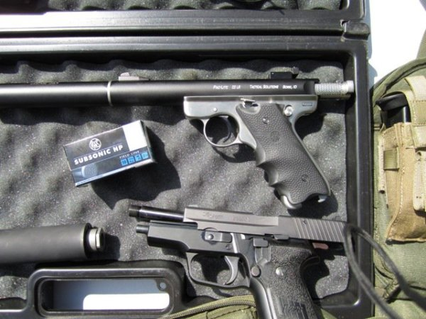 Ruger MK II and SIG .228 Suppressed