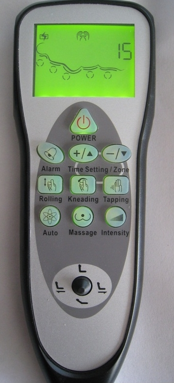 Remote control of spa chair