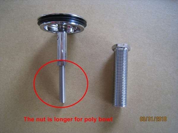 Drain plug (long screw)