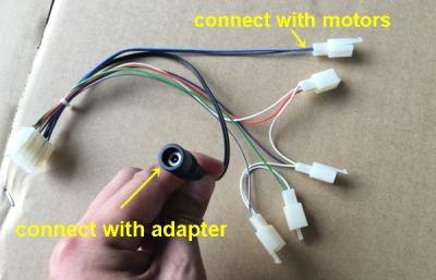 Vibration motors cables