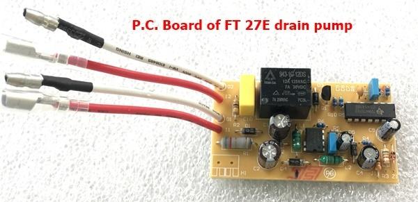 FT27E drain pump P.C.B