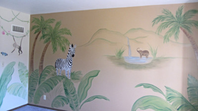 Jungle mural for kids room