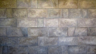 faux painted stone wall