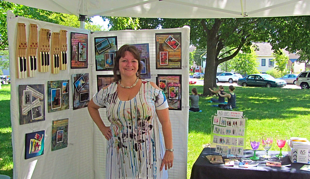 Bay View Art in the Park set up