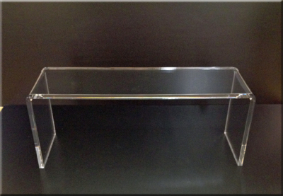 Clear Acrylic Risers and Stands for TV, Cable box, Monitor.