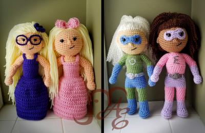 Girl Amigurumi Dolls