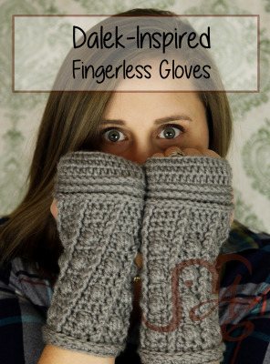 Dalek-Inspired Fingerless Gloves