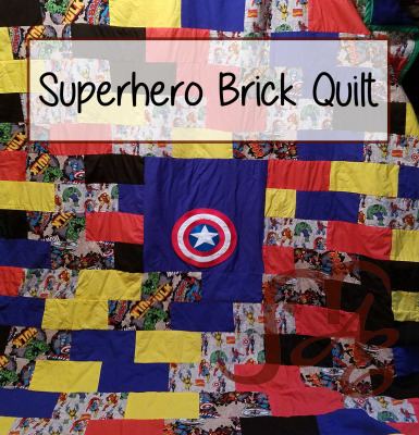 Superhero Brick Quilt
