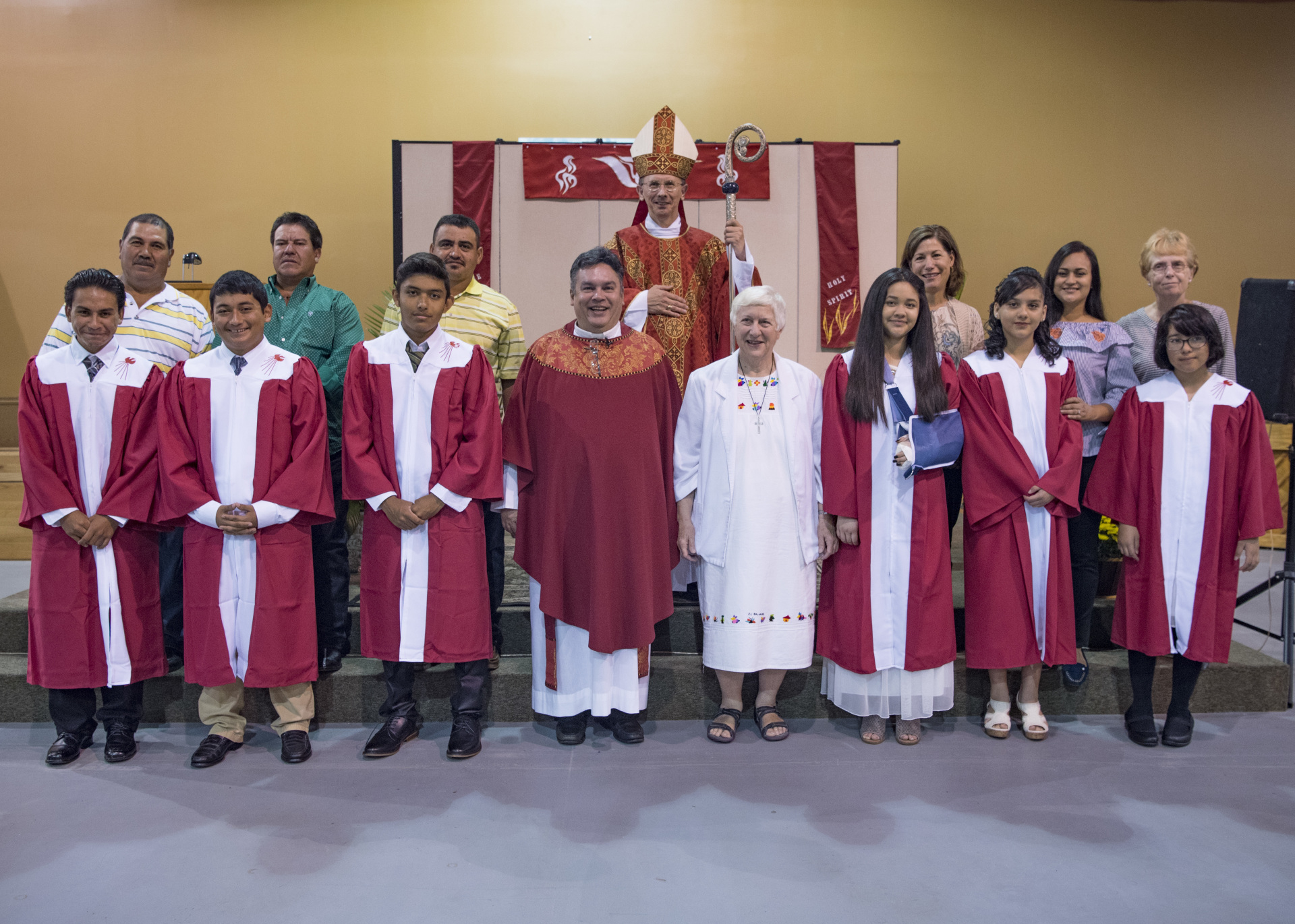 Bishop Jugis and the Confirmation Class