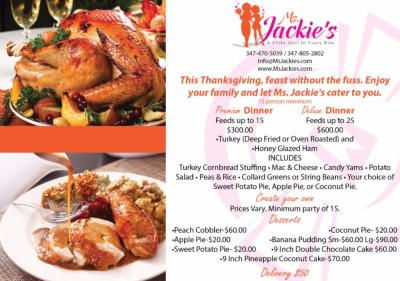 Ms Jackie's Thanksgiving Feast