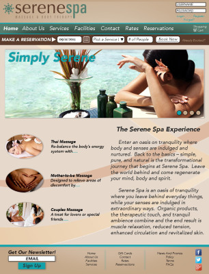 Serene Spa Website (Part 1)