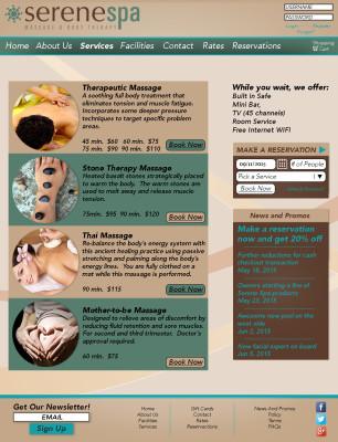 Serene Spa Website (Part 2)