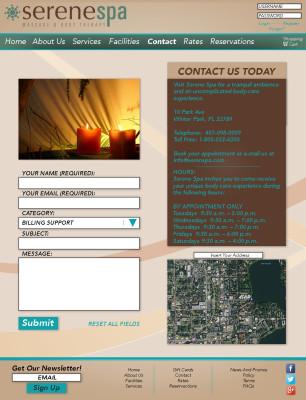 Serene Spa Website (Part 3)