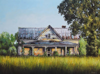 Abandoned  is a palette knife oil painting by North Carolina artist Tonia Gebhart The Barefoot Artist. It's an old abandoned home in Johnson County North Carolina near Smithfield.