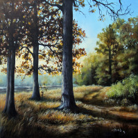 Keith Hills Gof Course oil painting