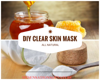 clear skin, natural remedies, baking soda, honey, diy home remedies