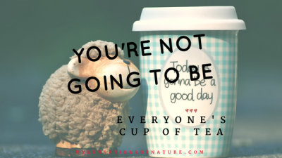 You're not going to be everyone's cup of tea