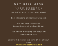 Coconut oil, castor oil, natural remedies, dry hair, directions, how to prepare