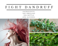 Oregano leaves, scalp, dandruff, remedy against dandruff, natural