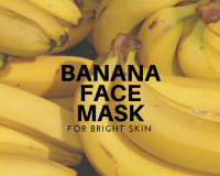 banana mask, bright skin, natural remedies, honey, diy home remedies
