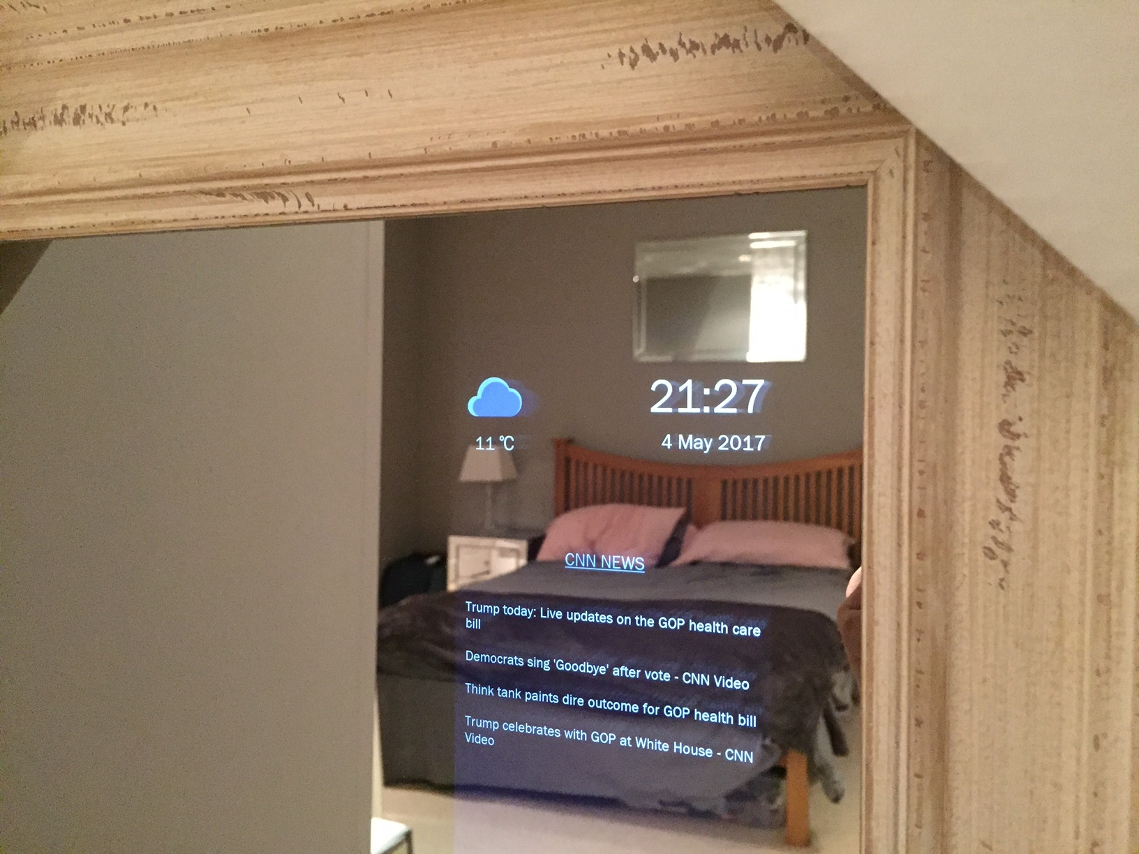 Smart Mirror Full Length Shabby Chic Frame