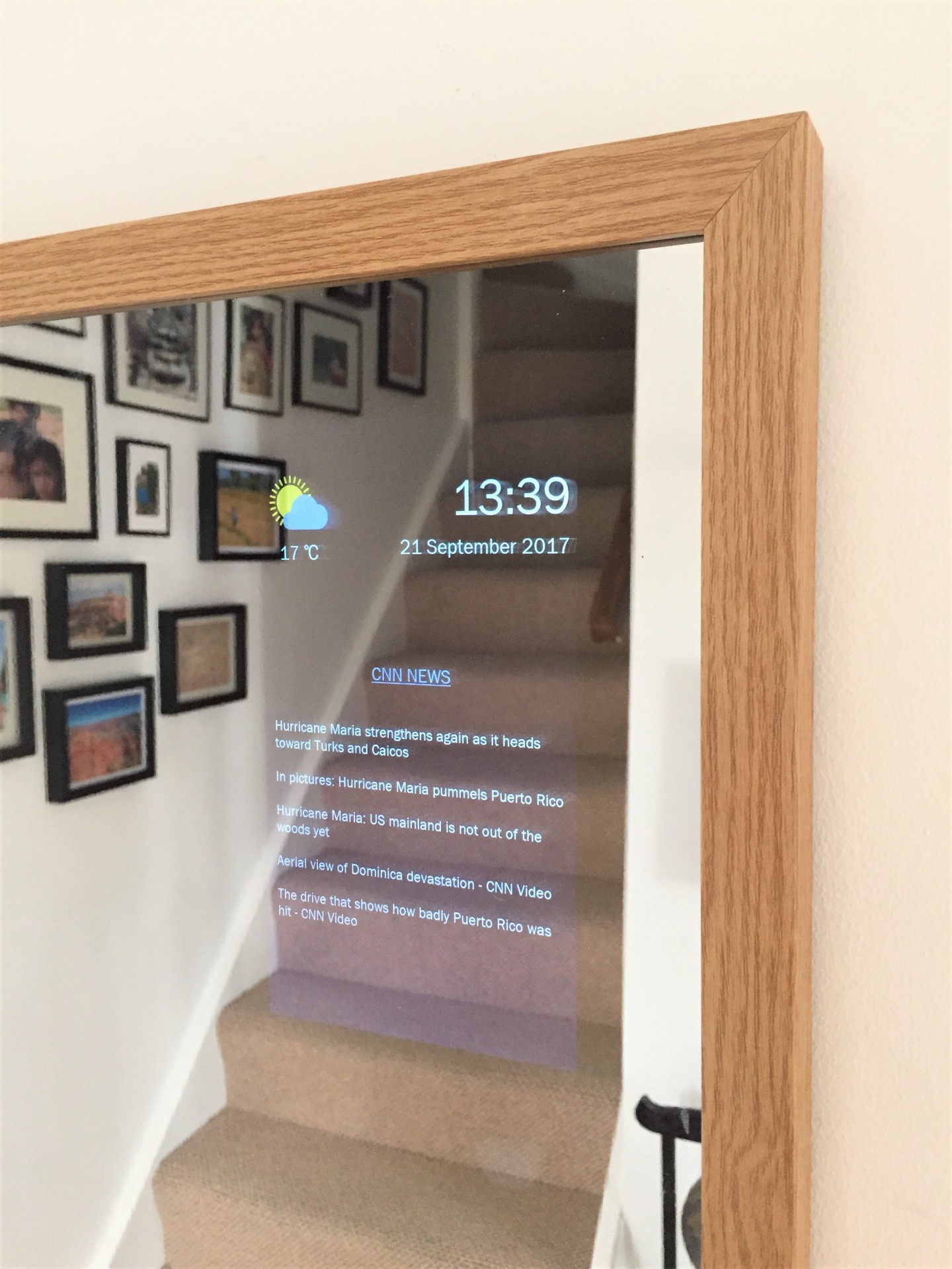 Smart Mirror Hallway Multimedia