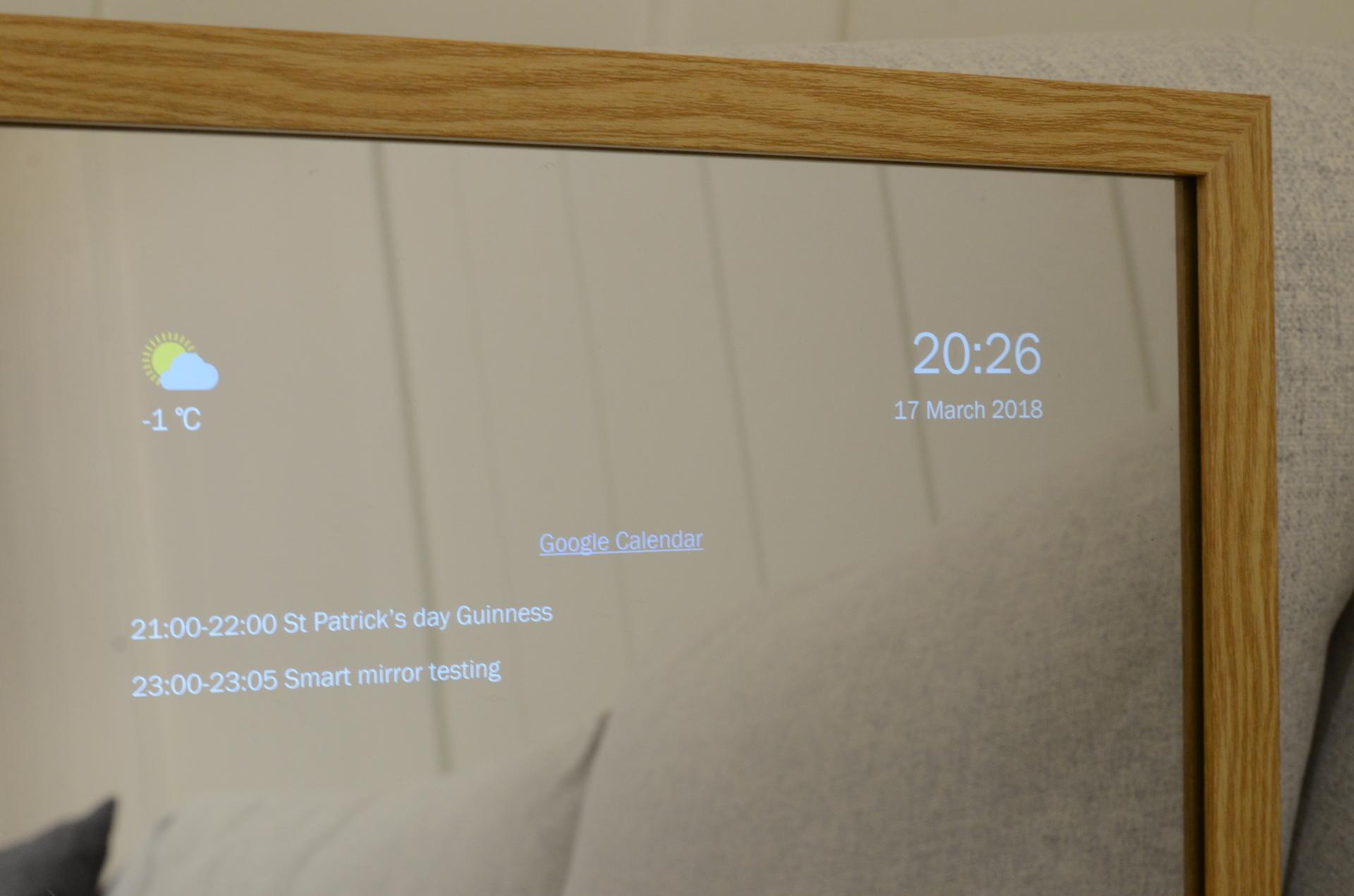 Smart Mirror Hallway Multimedia