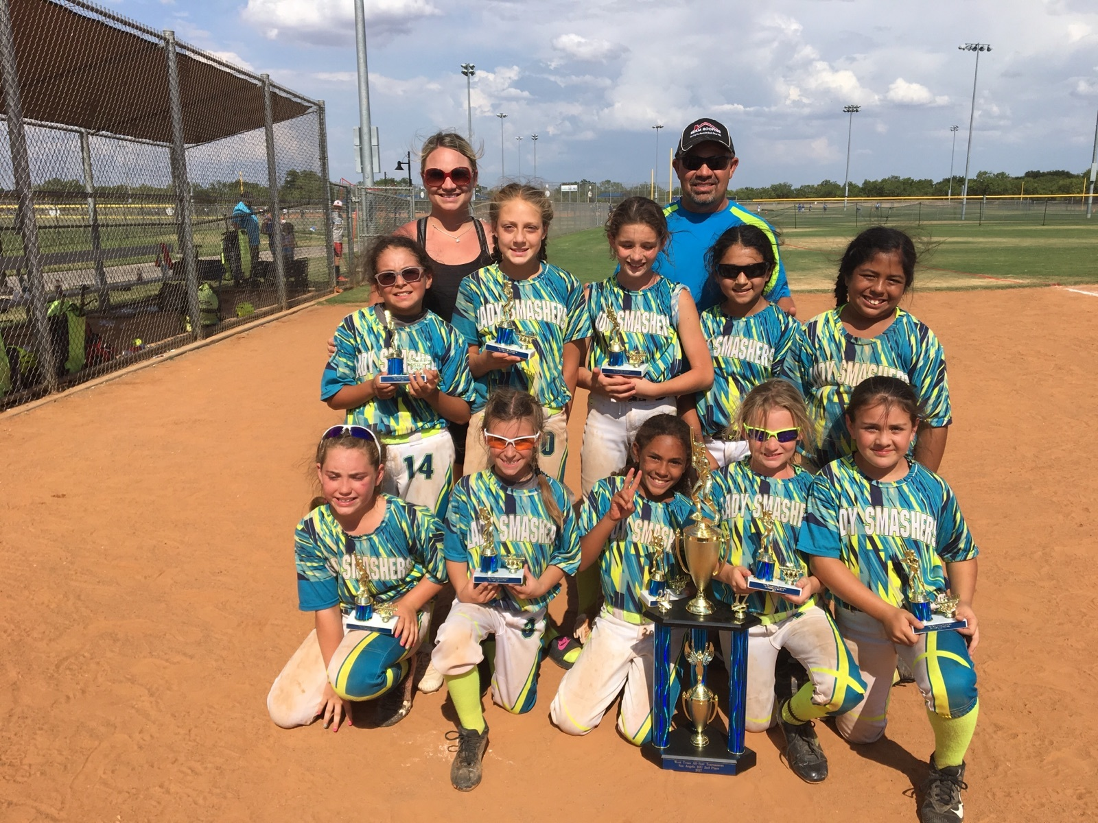 Lady Smashers 2nd Place 10U