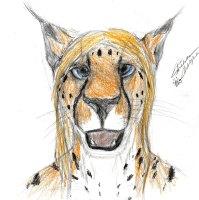 furry art fursona color sketch cheetah