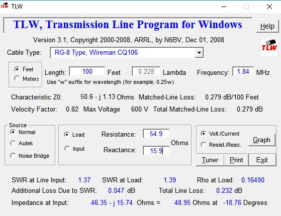 Transmission Line for Windows
