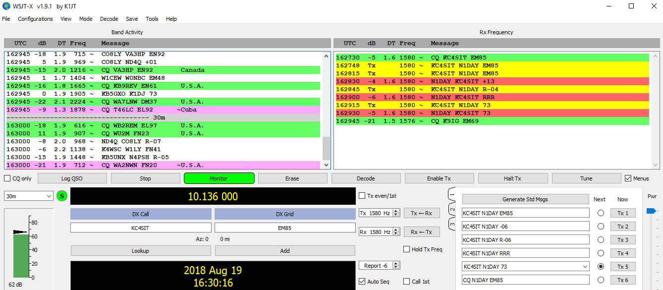 First Transatlantic and Bulb to Bulb Contact on FT8