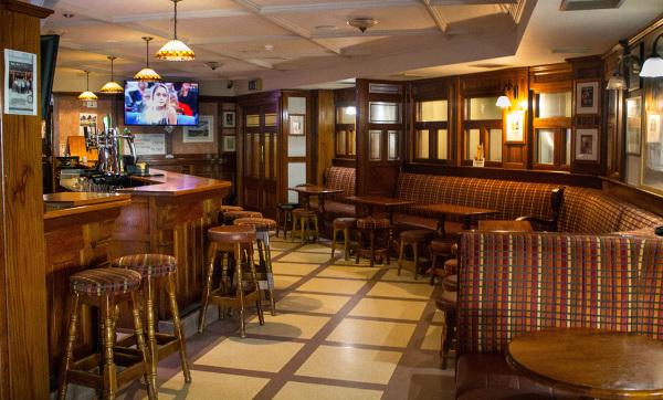 McMahons Bar Maynooth bar and sports seating area
