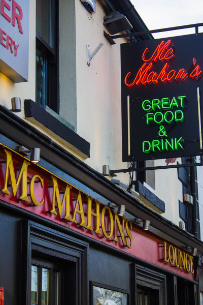 McMahons Bar Maynooth outside signs