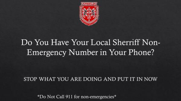 Non-Emergency Sheriff's Phone Numbers
