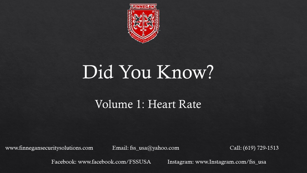 Did You Know: Volume 1 Heart Rate
