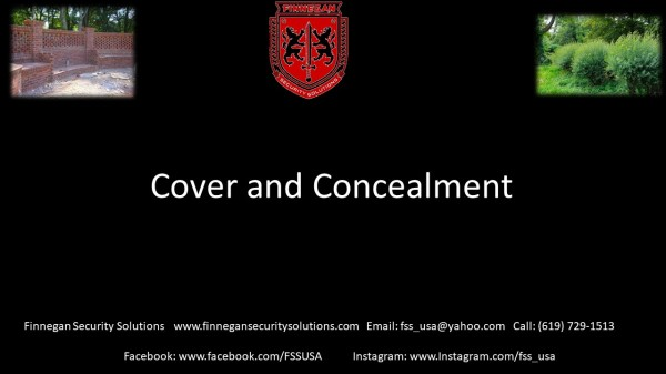 Cover and Concealment