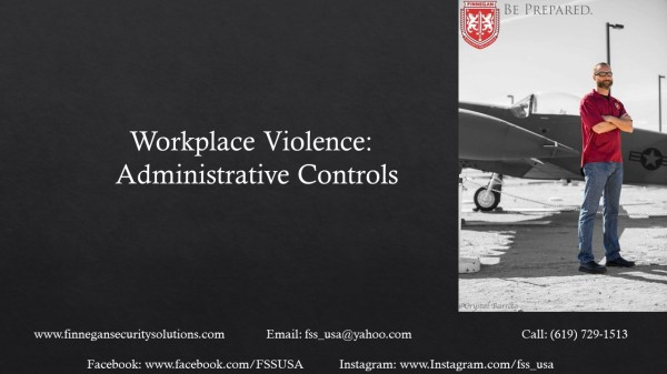 Workplace Violence: Administrative Controls