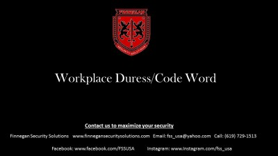 Establishing a Duress Phrase/Code Word