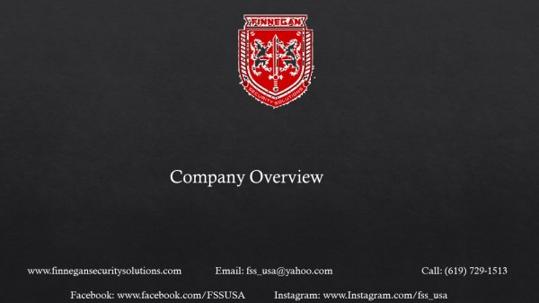 Finnegan Security Solutions Company Oveview