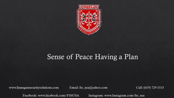 Sense of Peace in Having a Plan