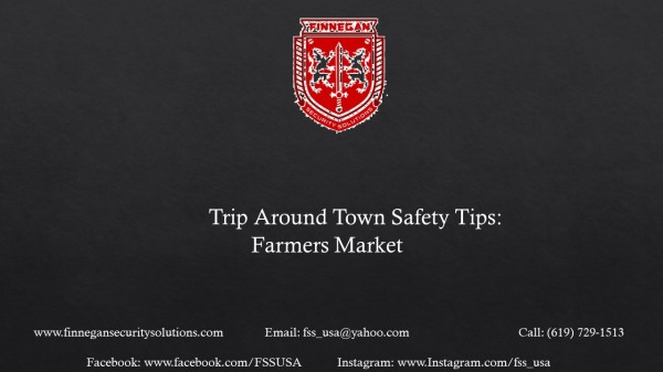 Safety Tips: Farmers Market