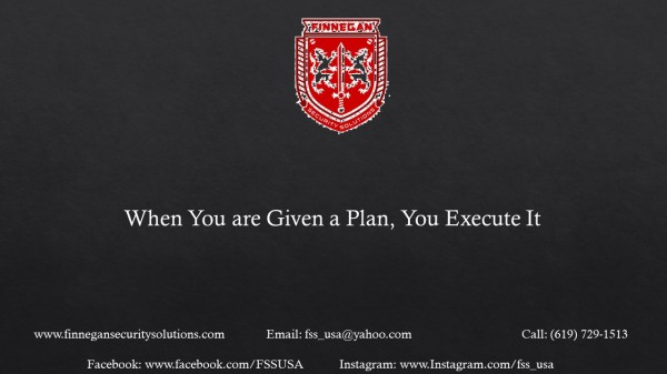 When Given a Plan You Execute It