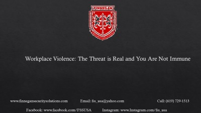 Workplace Violence: The Threat is Real and You are not Immune