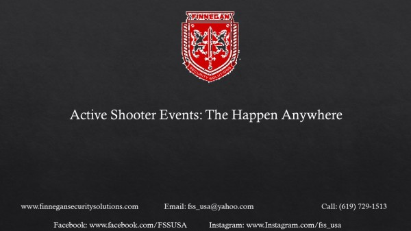 Active Shooter Events: They can Happen Anywhere