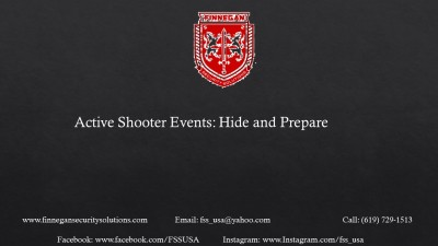 Active Shooter: Hide