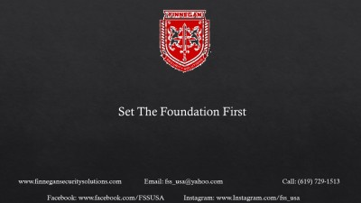 Set Your Foundation First