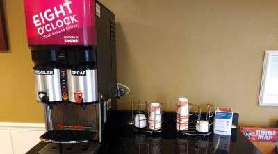 Кофе 24 часа в фойе отеля